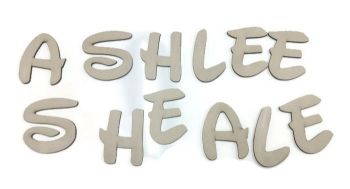 Quality Birch Plywood Wooden Alphabet Letters & Numbers, 4mm Thick Disney Font