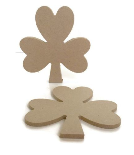 MDF Wooden Shamrock 6mm or 15mm Thick