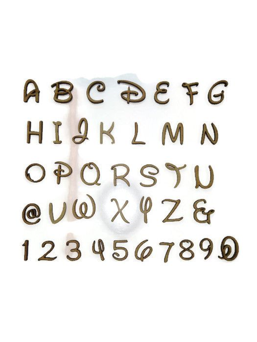 Wooden MDF Simpson Letters / Numbers, 2cm - 10cm sizes