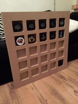 Hockey IceHockey Puck Collection Stand Wooden/MDF 25 Slots 32mm Thick