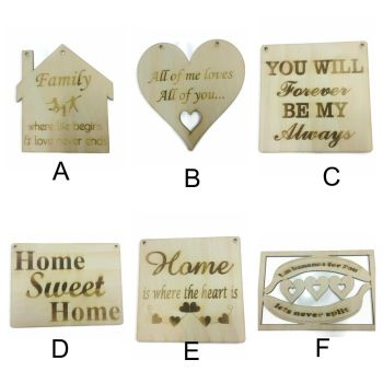 Wall Hanging Personalised Plaques Cut From High Quailty Birch Wood 4mm Thick MDF