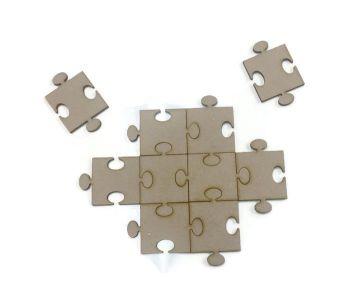 10 x MDF Wooden Jigsaw Shapes 3mm MDF