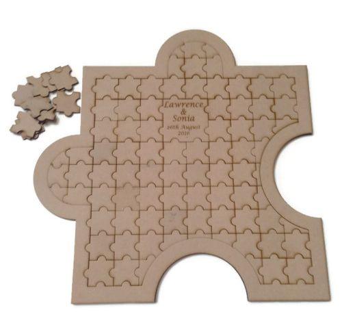 Alternative Wooden MDF Jigsaw Puzzle Guestbook Wedding Birthday Etc 460mmx4