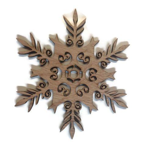 Wooden Plywood SnowFlake