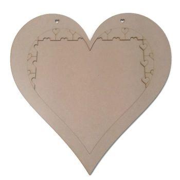 Alternative Wooden Heart Shape MDF Jigsaw Puzzle Guestbook Wedding Birthday Etc