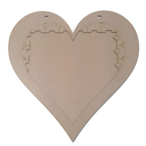 Alternative Wooden Heart Shape MDF Jigsaw Puzzle Guestbook Wedding Birthday