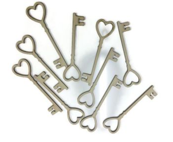 Pack of 10 Love heart key rings valentines wedding weddings engagement marriage 4mm thick