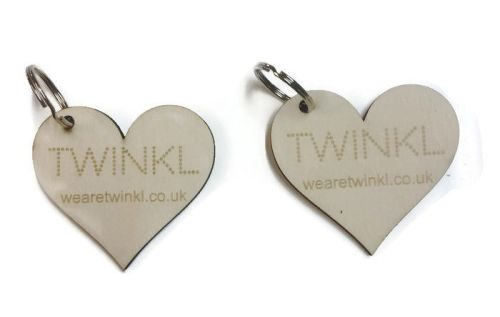 Personalised Business Keyrings Wooden Various Shapes High Quality