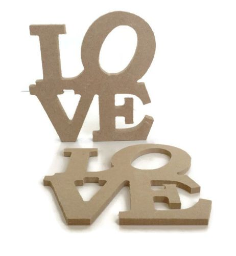 MDF Wooden 'Love' Shape 6mm 15mm Thick