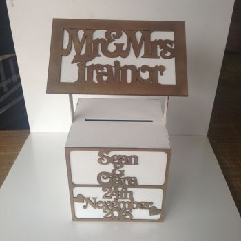 Wedding / Birthday Wishing Well Personalised, Painted (Square Shape) 610mm High