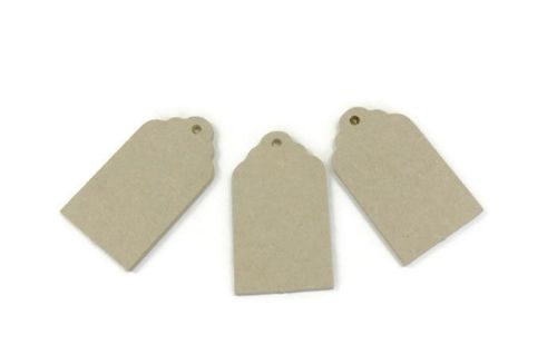 3 x MDF Wooden Tags Shape