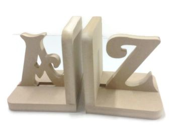 Wooden Pair Bookends - AZ