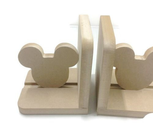 Wooden Pair Bookends - Mouse Ears