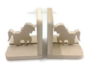 Wooden Pair Bookends - Unicorns