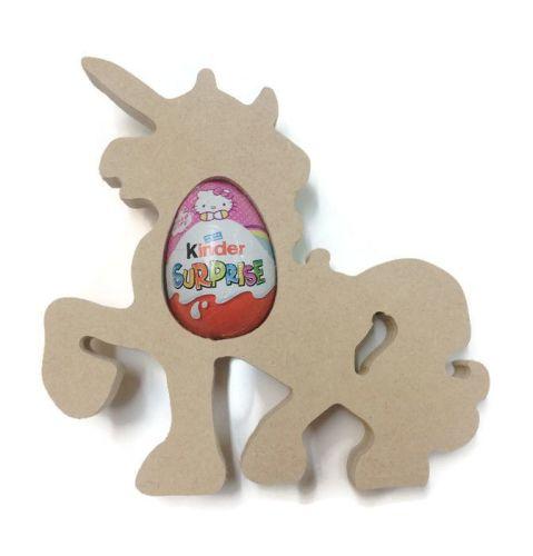 Freestanding MDF Kinder or Creme Egg Holders - Unicorn