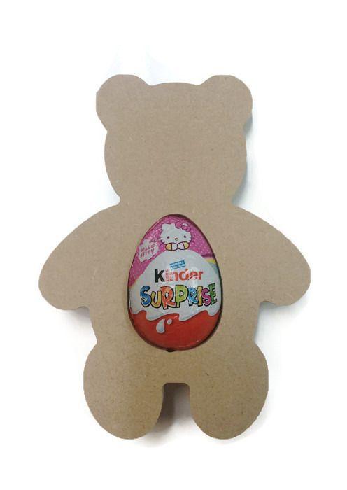 Freestanding MDF Kinder or Creme Egg Holders - Teddy Bear