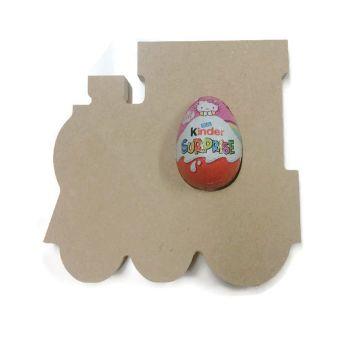 Freestanding MDF Kinder or Creme Egg Holders - Train