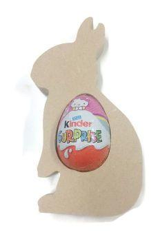 Freestanding MDF Kinder or Creme Egg Holders - Rabbit
