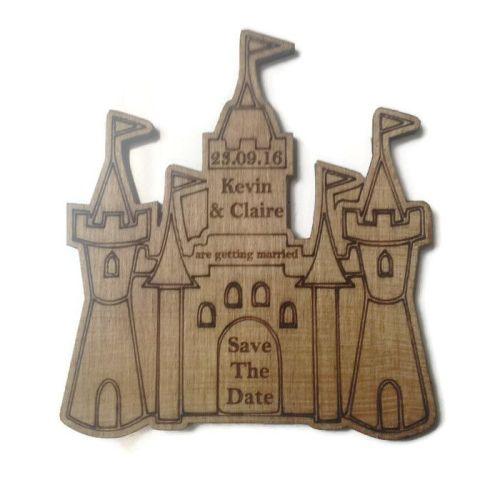 Wedding Invites varnished - Castle