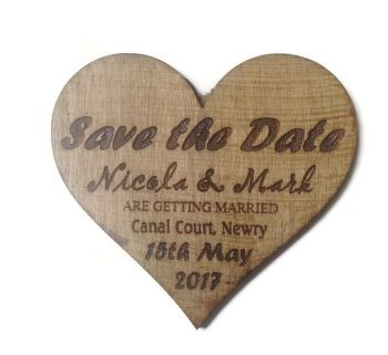 Wedding Invites varnished - Heart