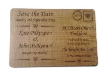 Wedding Invites varnished - Postcard