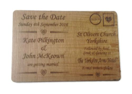 Wedding Invites varnished - Postcard