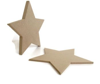 MDF Wooden Big Star 6mm or 15mm Thick
