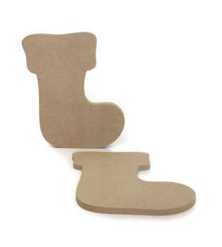 MDF Wooden Big Stocking 6mm or 15mm Thick
