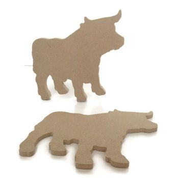 MDF Wooden Bull 6mm or 15mm Thick
