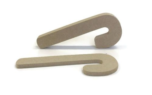 MDF Wooden Candy Cane 6mm or 15mm Thick