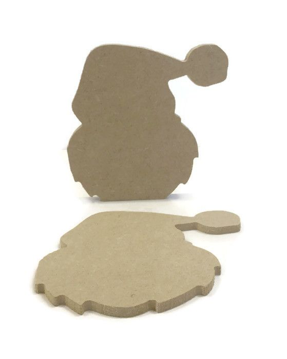 MDF Wooden Santa Head 6mm or 15mm Thick