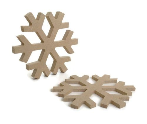 MDF Wooden Snowflake 6mm or 15mm Thick