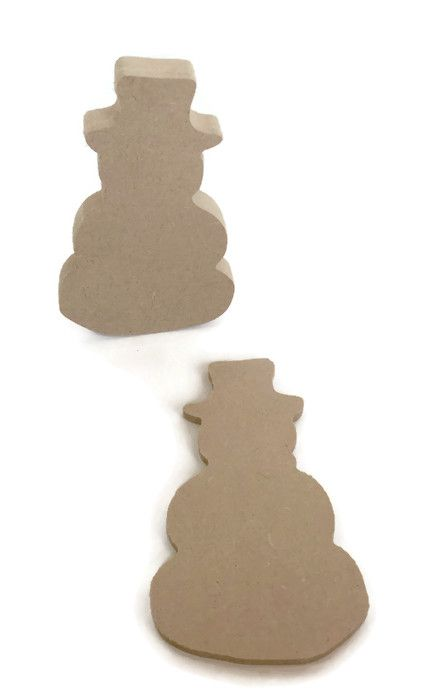 MDF Wooden Snowman 6mm or 15mm Thick