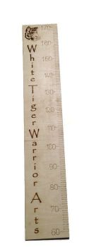 Personalised Wall Ruler , Growth Chart 60cm - 140cm, 4mm Birch Plywood And Clear Sealer