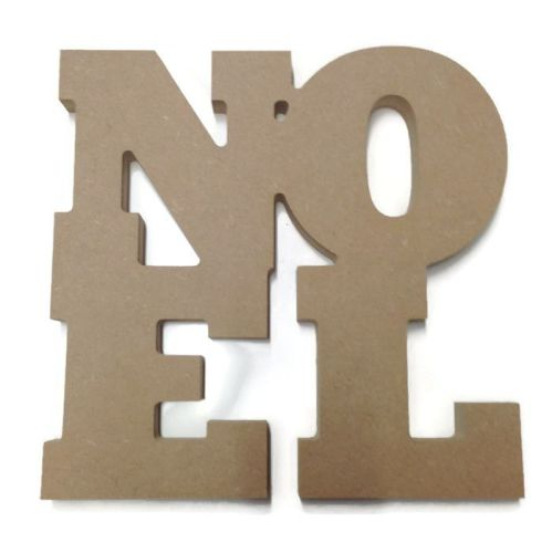 MDF Wooden 'NOEL' Shape 6mm 15mm Thick