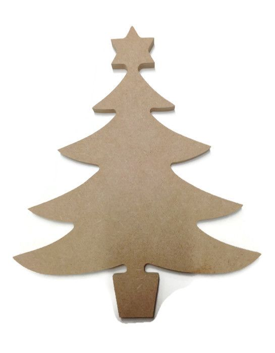 MDF Wooden Christmas Tree 2 6mm or 15mm Thick