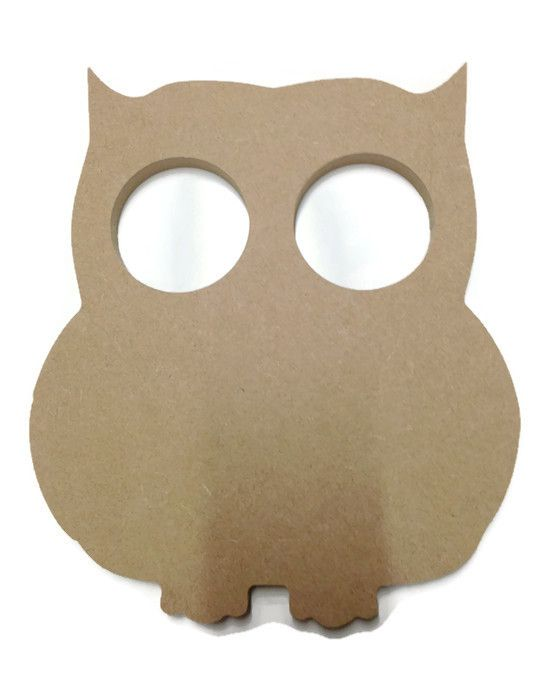 MDF Wooden Owl 2 6mm or 15mm Thick