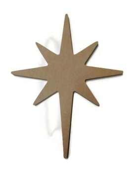 MDF Wooden Christmas Star 6mm or 15mm Thick