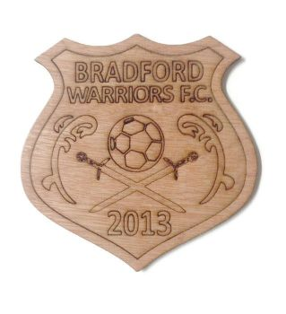 Bradford Warriors Plywood Football Crest