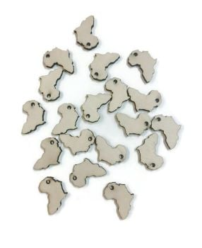 Pack of 10 Africa Shape Keyrings