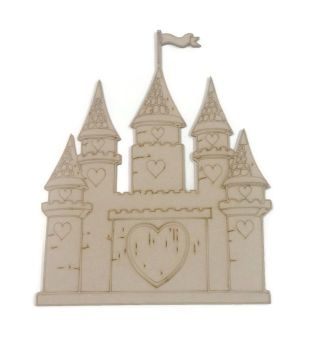 4mm MDF Castle Etched 200mm High