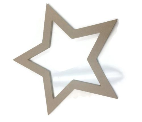 MDF Wooden Hollow Star 6mm or 15mm Thick