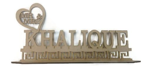 MDF Wooden Wedding / Name Stand Shaped Design