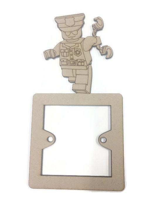 Light Switch Surrounds - Lego Policeman