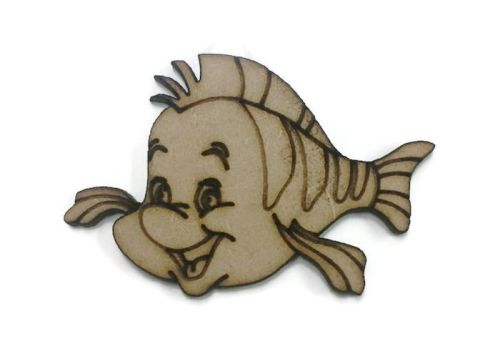 Flounder Figure 100mm - 500mm, 4mm Thick