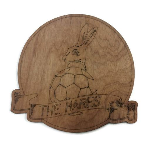 March Town Ladies FC Plywood Football Crest