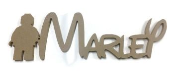 HANGING MDF Wooden Legoman Disney Custom Name Plaque 150mm/6mm