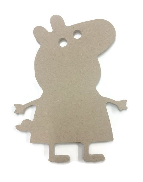 MDF Wooden Peppa Pig 6mm or 15mm Thick
