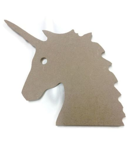 MDF Wooden Unicorn Head 6mm or 15mm Thick