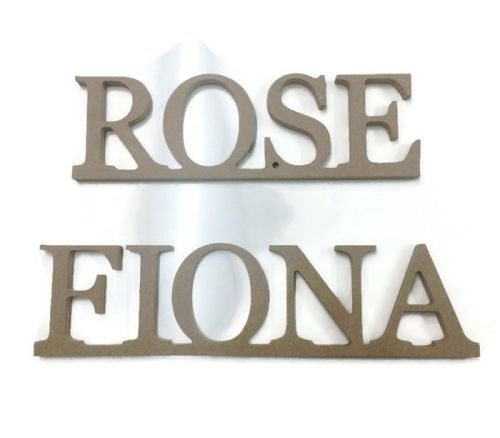 FREESTANDING Times New Roman Font Joined 18mm Thick